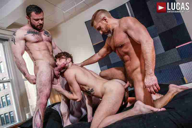 Sergeant Miles And Dirk Caber Double-Penetrate Drew Dixon [Bareback]