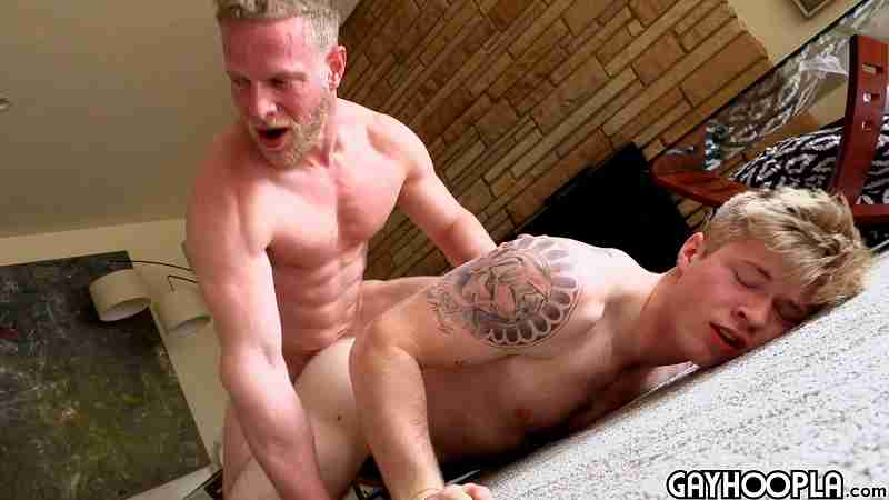 Blonde Daddy Rick Randolph Fucks 18yo Blonde Jock Troy Daniel
