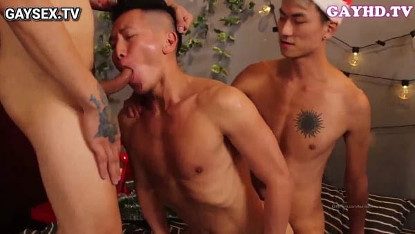 Gay China group sex